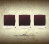 Elegant Vintage empty Photo frame Background — Vector de stock