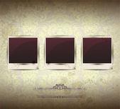 Elegantní vintage prázdné foto rámeček pozadí — Stock vektor