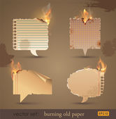 Burning Old Papers — Stock Vector