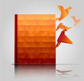 Buchcover, kreative buchpräsentation — Stockvektor