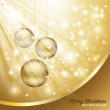 Gold Christmas Background — Stockvectorbeeld
