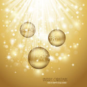 Gold Christmas Background — Wektor stockowy