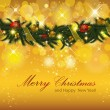 Christmas Background with Garland — Stock Vector