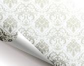 Esquina rizado de página floral patrón sin costuras — Vector de stock