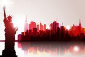 Skyline de nueva york — Vector de stock