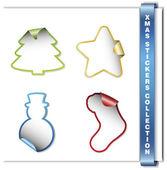 Vánoční samolepky — Stock vektor