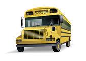 Isolado de ônibus escolar — Vetor de Stock