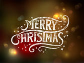 Christmas typography, handwriting — Stock Vector