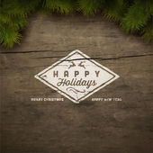 Happy holidays sign background — Stock Vector