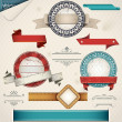 Vintage Grungy Design Elements. — Stock Vector #7813229