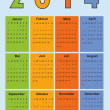 Stock Vector: Calendar 2014 germholidays