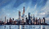 Abstact city skyline — Stock Vector