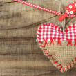 Handmade Christmas heart — Stock Photo