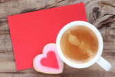 Coffee with a message — Stock Photo