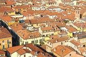Tetti rossi in italia — Foto Stock