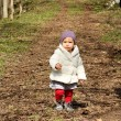 Little girl walking — Stock Photo