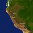 Peru map — Stock Photo