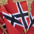 Norway flags - Stock Photo