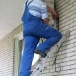 Air conditioning worker - Stockfoto