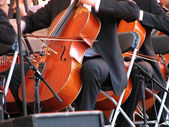 Cello players — Stock Photo