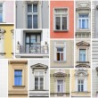 Vienna windows collage — Stock Photo