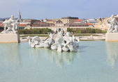 Fountain in Belvedere park, Vienna — Stock Photo