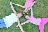 Children on the grass — Foto de Stock