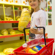 Stock Photo: Girl in the supermarket