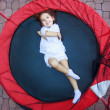 Girl on the trampoline — Lizenzfreies Foto