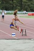 Long jump — Stock Photo