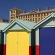 Stock Photo: Colorful cabins in Brighton