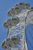 Weergave van de london eye — Stockfoto