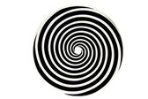 Black and white hypnotic whirlpool shape — Stock Photo