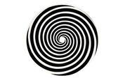 Schwarze und weiße hypnotische whirlpool form — Stockfoto