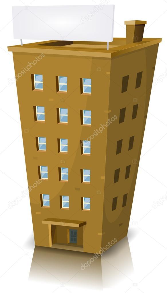 Edifício residencial dos desenhos animados — Vetor de ...