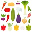 Vegetables Icons Set — Stock Vector
