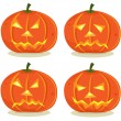 Halloween Pumpkins Set — Stock Vector