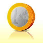 Proste kreskówka moneta euro — Wektor stockowy