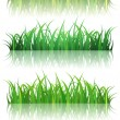 Stock Vector: Spring Or Summer Green Grass Set