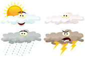 Weather Icons Characters — Stock Vector