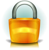 Padlock Security Icon — Stock Vector