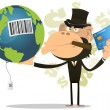 Selling And Buying Earth — Imagen vectorial