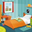 Stock Vector: Some Kid Bedroom