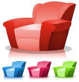 Dessin animé ensemble fauteuil — Vecteur