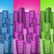 Cityscape Backgrounds Set — Stock Vector