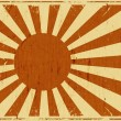 Vintage Japan Flag Landscape Background — Stock Vector