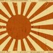 Vintage Japan Flag Landscape Background — Stock Vector