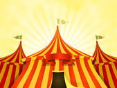 Big Top Circus Background With Banner — Stockvektor