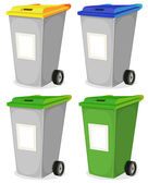 Set Of Urban Recyclable Trash Bin — Stock Vector
