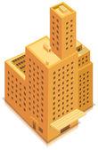 Isometric Business Big Building — Stock Vector